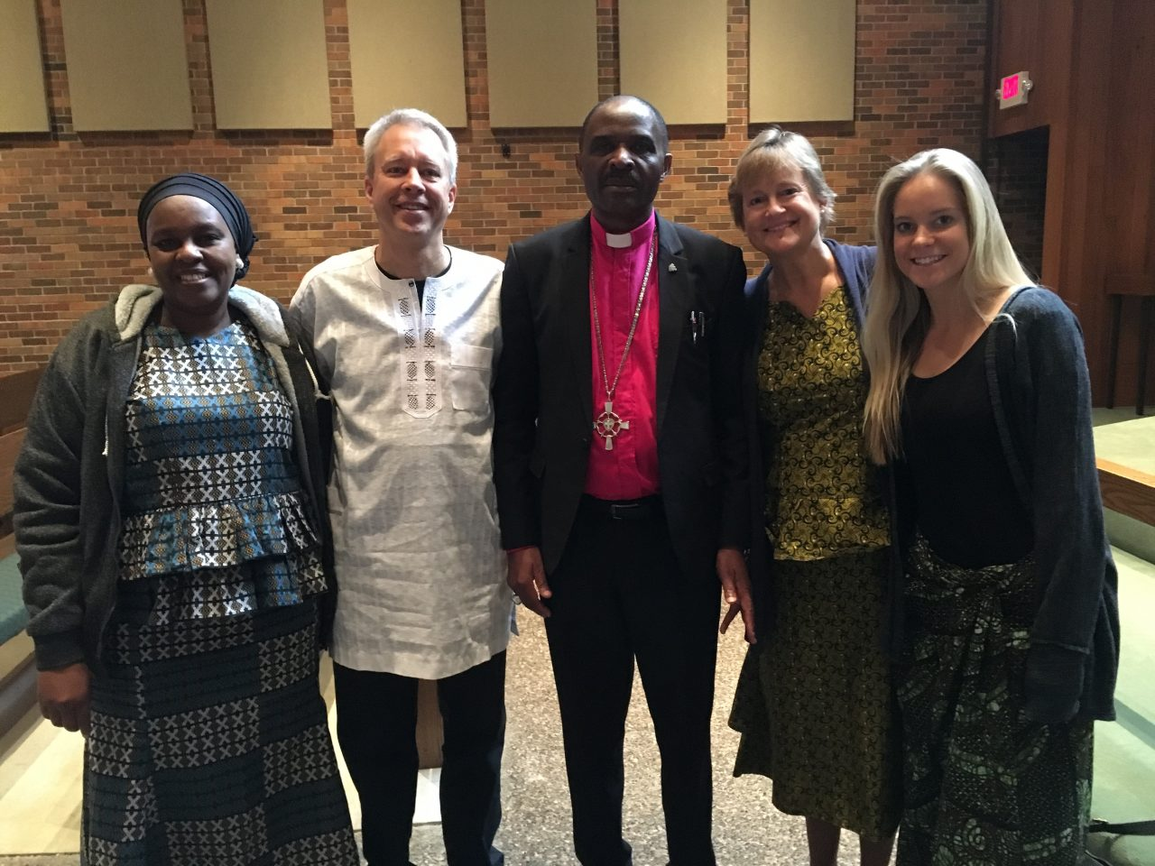 Visit with Bishop Gavelle from Tanzania